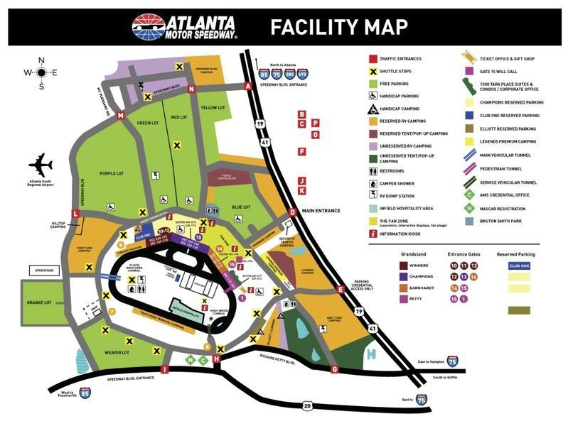 United tiny house association 3rd annual 2018 georgia for Las vegas motor speedway seating map